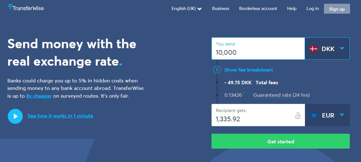 Overfør penge billigt til udlandet – Overførsel med transferwise