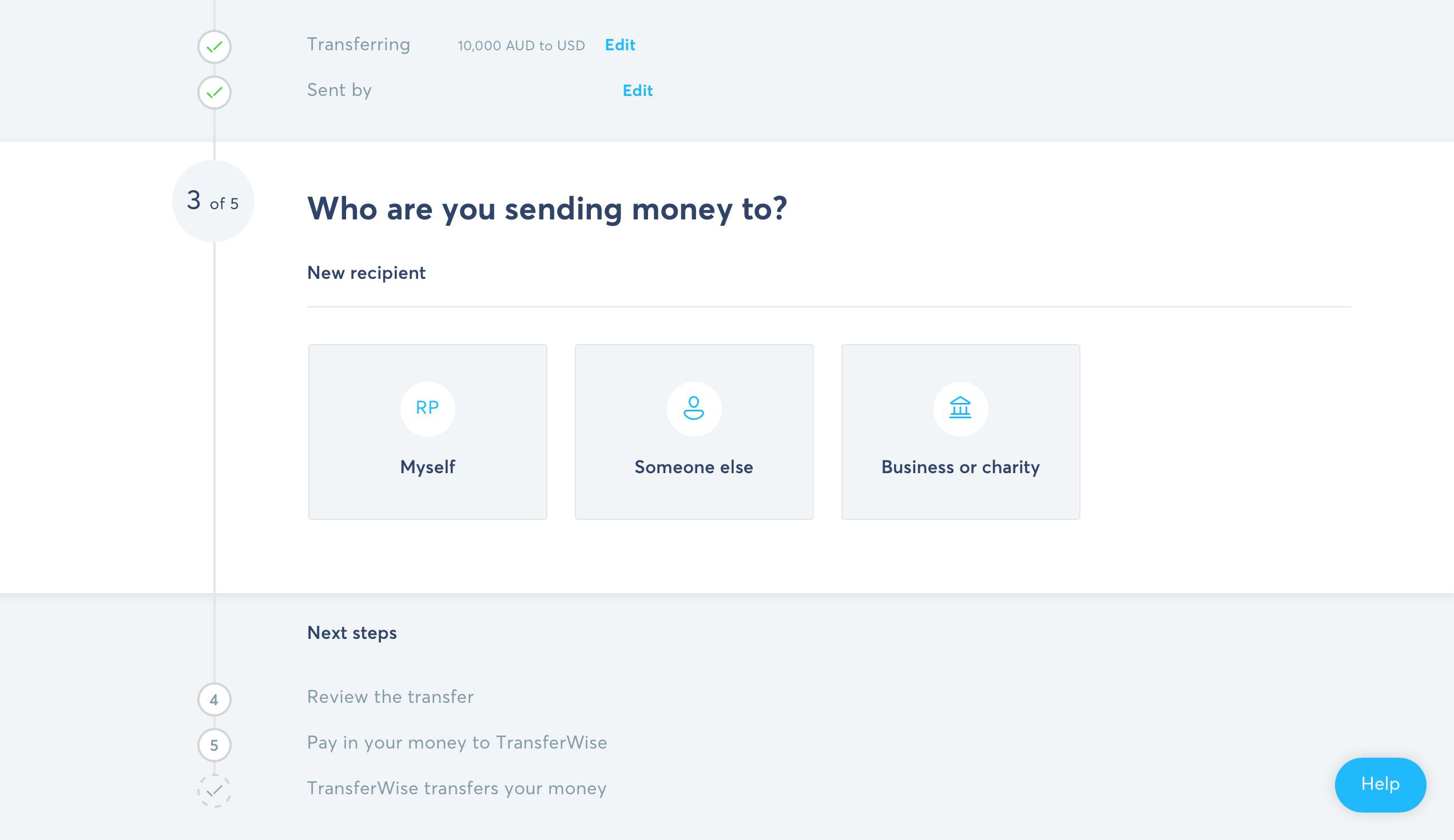 Overfør penge billigt til udlandet – Overførsel med transferwise 6 2